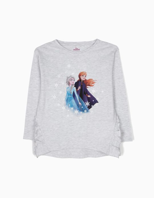 T-shirt de Manga Comprida Frozen Cinzenta