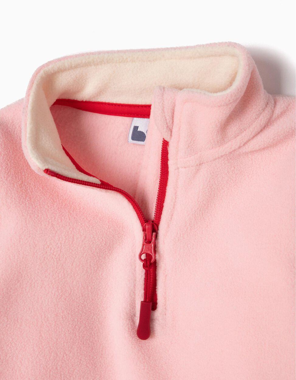 Camisola Polar Rosa