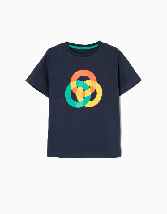 T-shirt Manga Curta Circulo