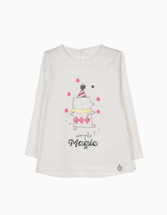 T-shirt Manga Comprida Circus Branca