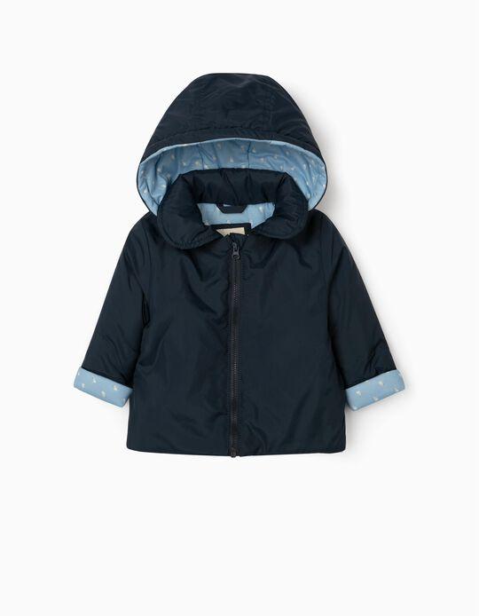 Hooded Parka for Newborn Baby Boys, Blue