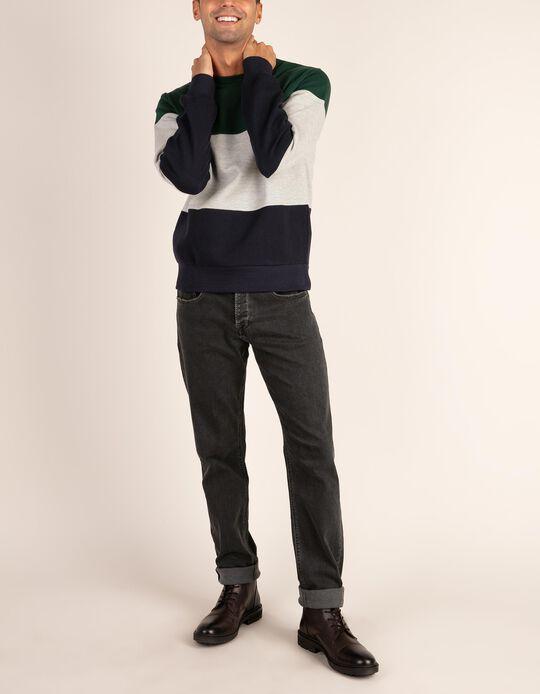 Sweatshirt blocos de cor .