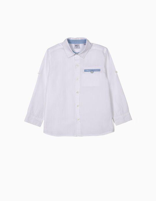 Camisa branca com bolso