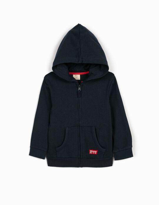 Hooded Jacket for Boys, Dark Blue