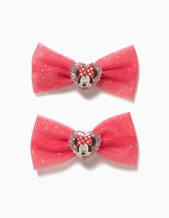 Pack of 2 Clips, Minnie Bow