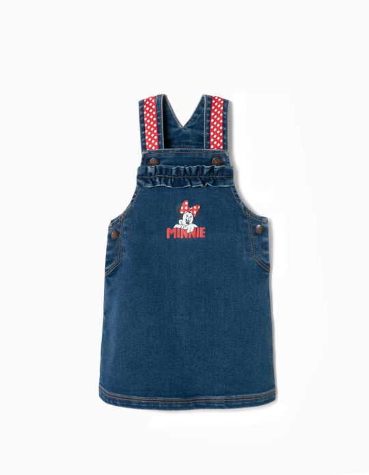 Denim Pinafore Dress for Baby Girls 'Minnie', Blue