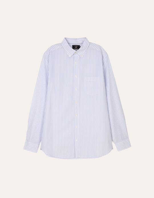 Camisa regular fit com risca dupla