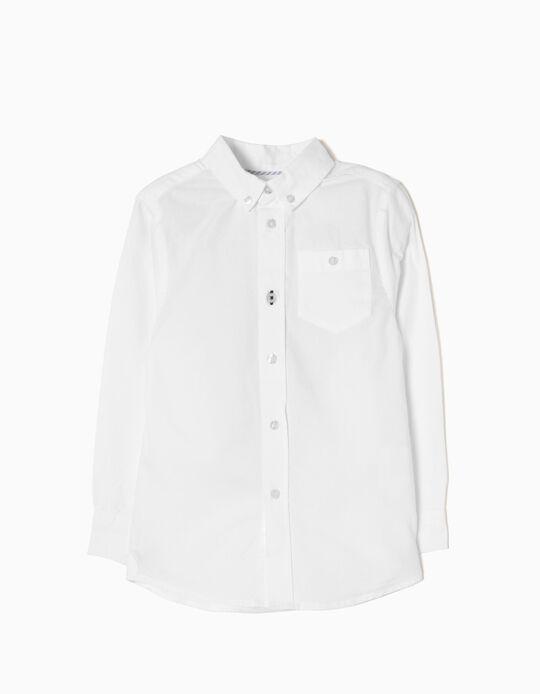 Long-Sleeve Shirt for Boys, White