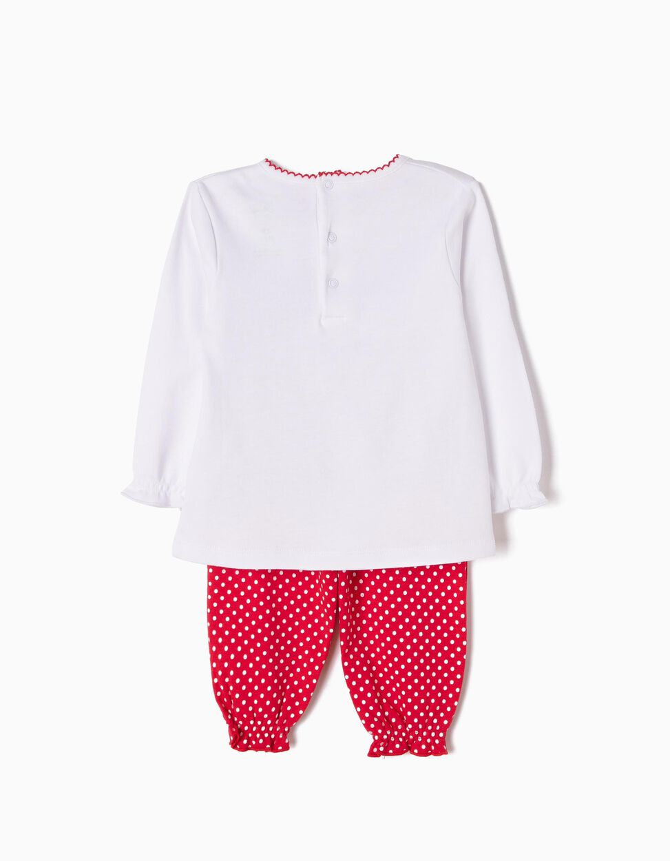 Pijama Manga Comprida e Calças Minnie Smile