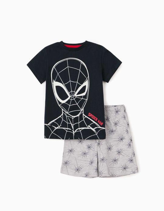 Pijama para Menino 'Spider-Man', Azul Escuro/Cinza