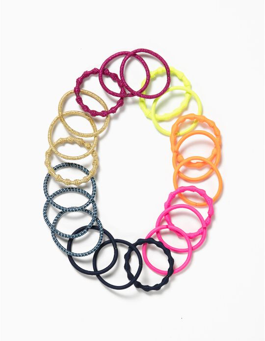 20-Pack Hair Elastic Bands for Girls