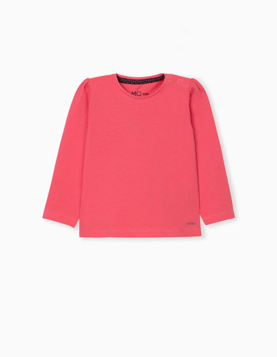 Long Sleeve Top for Baby Girls, Pink