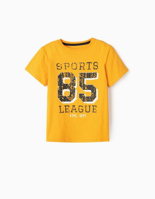 T-Shirt for Boys '85 League', Yellow