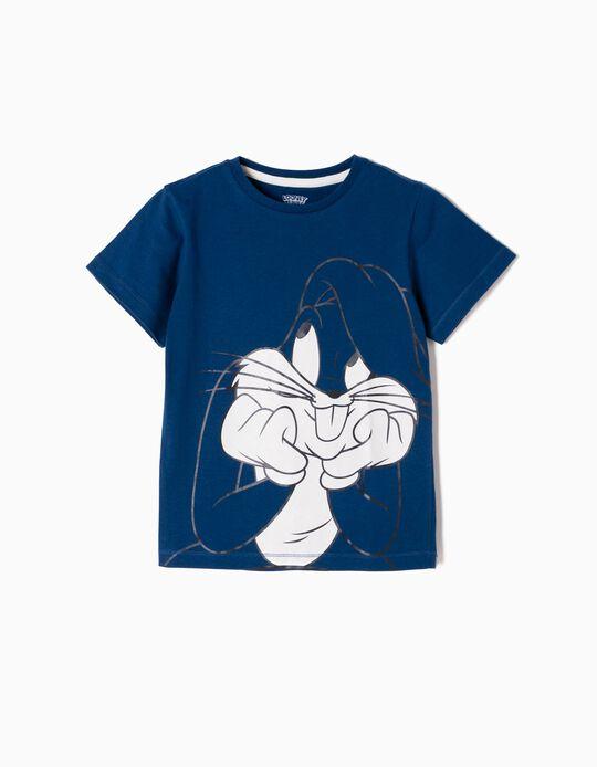T-shirt Bugs Bunny Azul