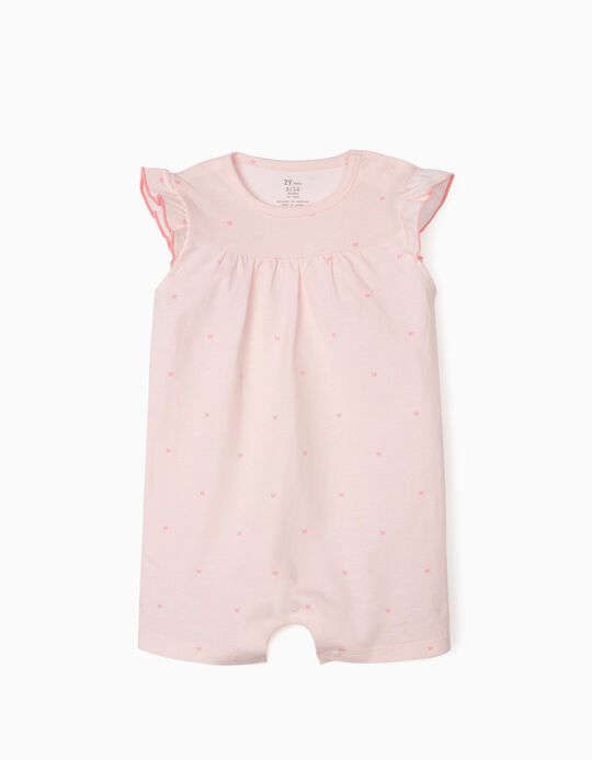 Striped Sleepsuit for Baby Girls, 'Butterflies', Pink