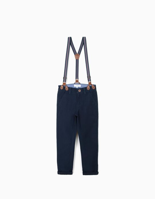 B&S' Chino Trousers with Braces
