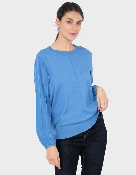 Jumper with Bishop Sleeves