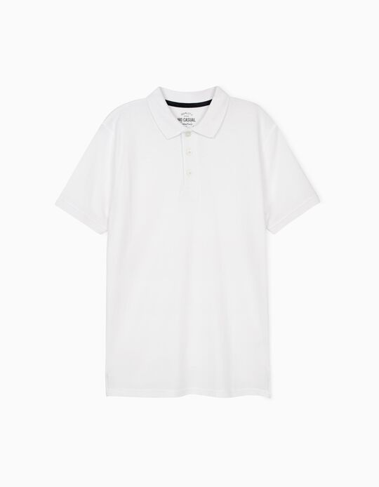 Piqué Polo Shirt, White