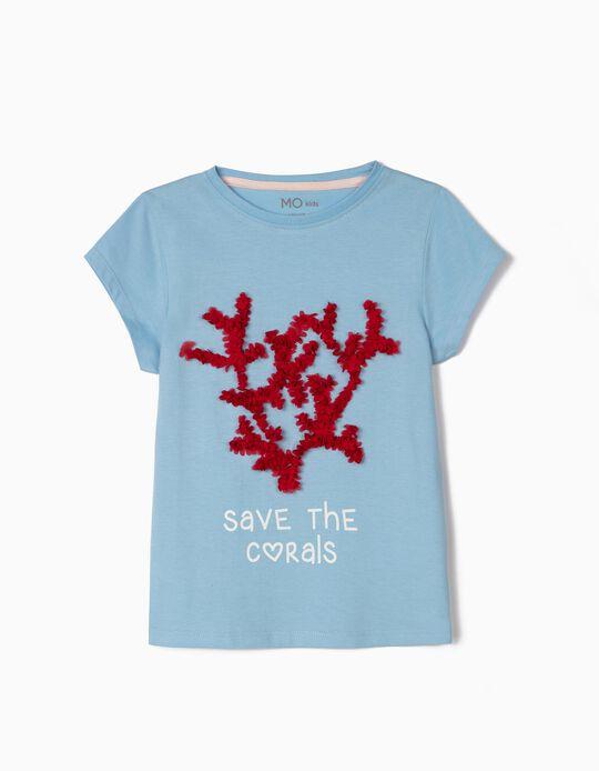 T-shirt para Menina, 'Save the Corals'