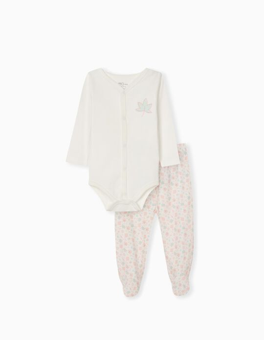 Bodysuit & Trousers for Babies, White
