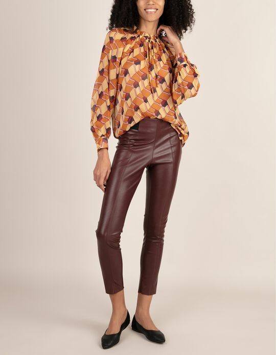 Leggings in Faux Leather