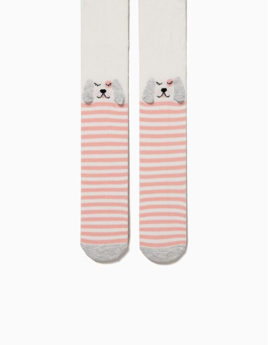 Dogs & Stripes' Jersey Knit Tights