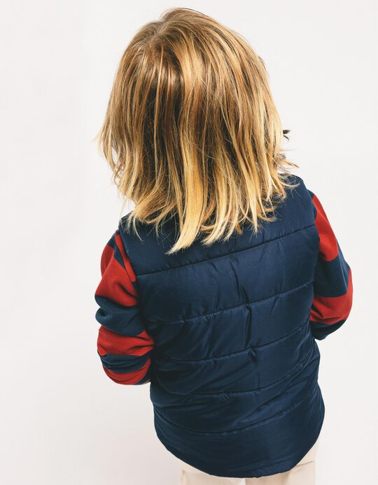 Padded Vest for Boys, Dark Blue