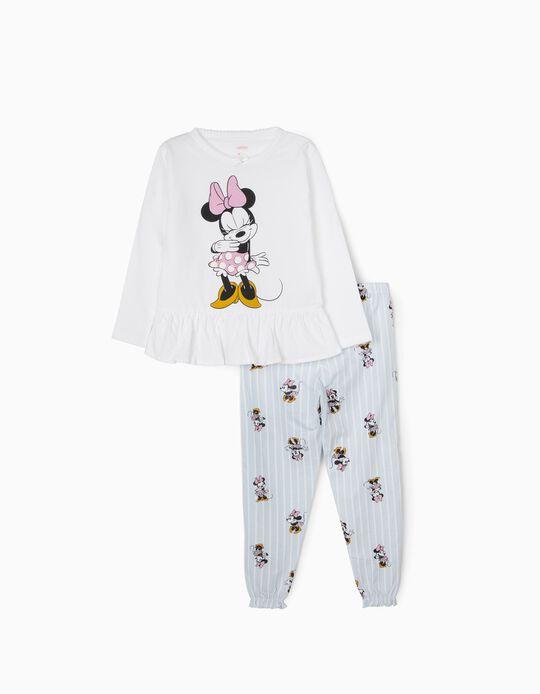 Pyjamas for Girls, 'Minnie Mouse', White/Blue