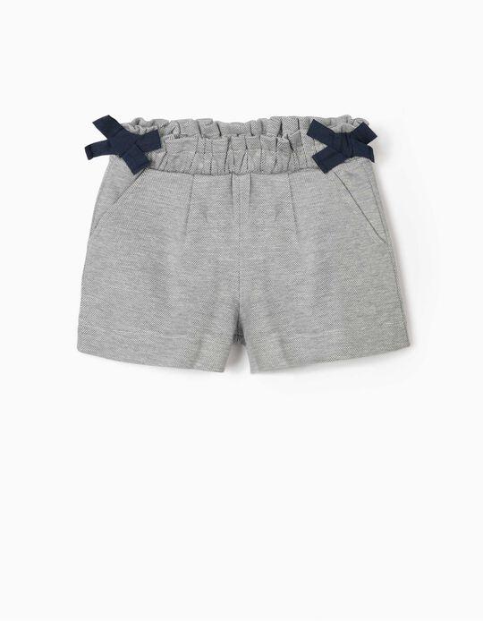 Jacquard Shorts for Girls, Blue