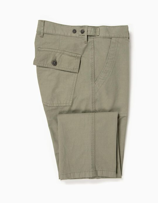 Calças de sarja bolsos