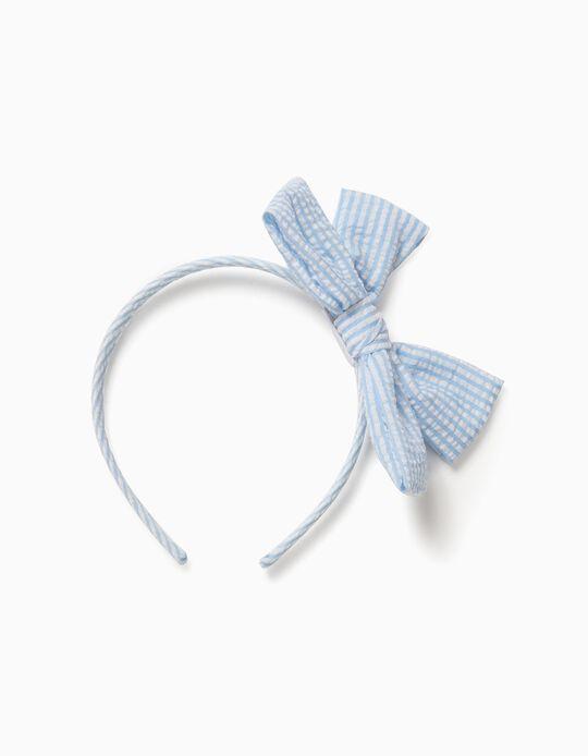 Bandolete com Laço para Menina Riscas, Azul e Branco
