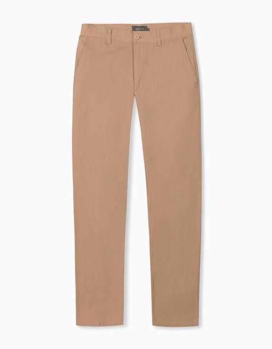 Twill Trousers for Men, Beige
