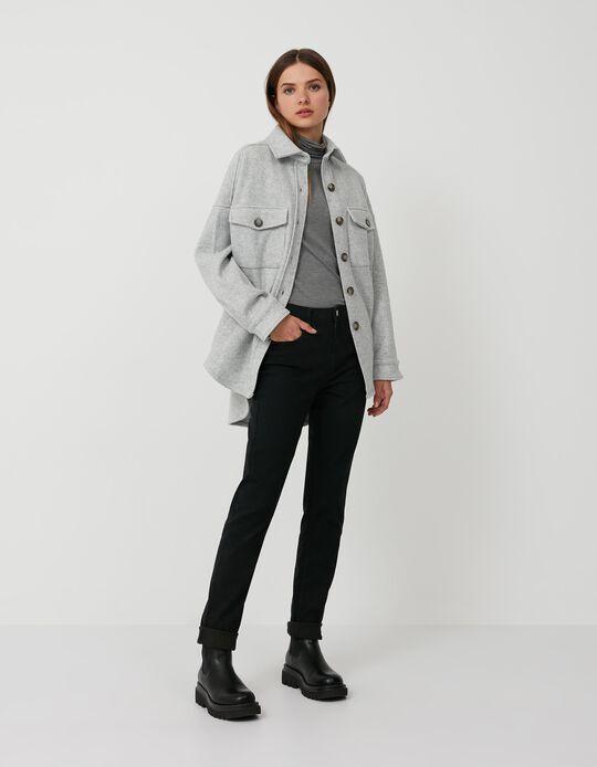 Jeans Slim Fit, Mulher, Preto