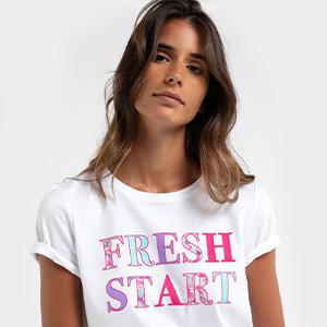 MO - Mulher T-Shirts e Camisolas